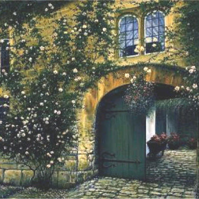 Cobblestone Courtyard Charles White