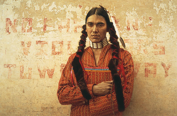 Contemporary Sioux Indian - James Bama