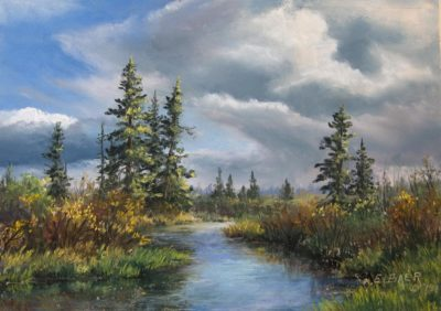 Creek near Edson, AB - Elsie Baer