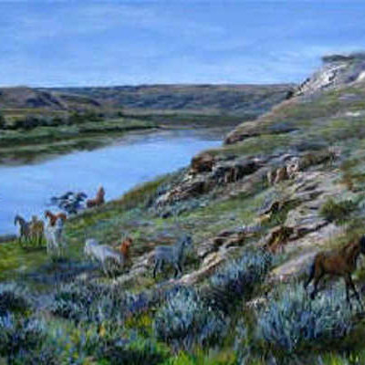 Crossing The South Saskatchewan Karoll Dalyce Brinton