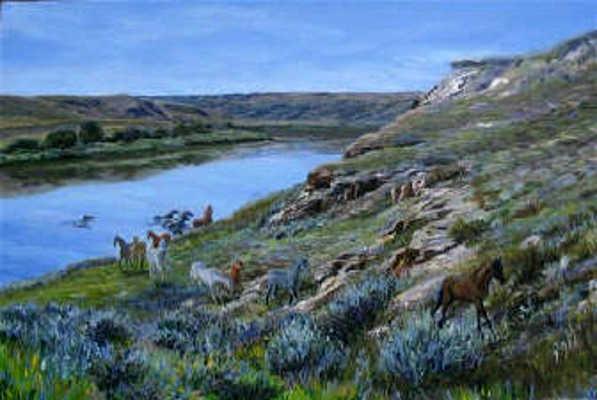 Crossing The South Saskatchewan Karoll Dalyce Brinton