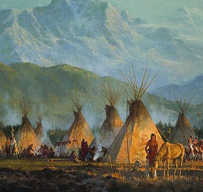 Crow Camp, 1864 - Howard Terpning
