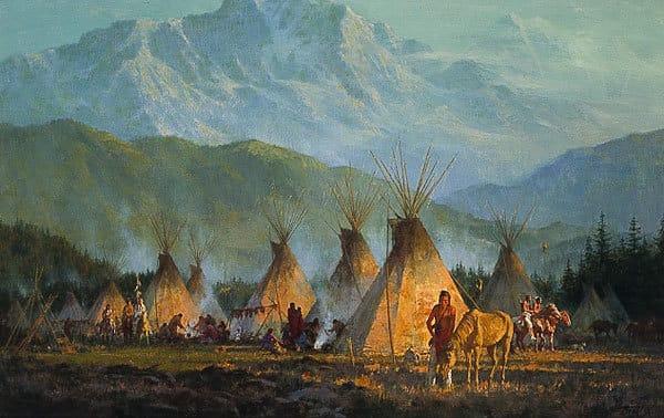 Crow Camp, 1864 - Howard Terpning