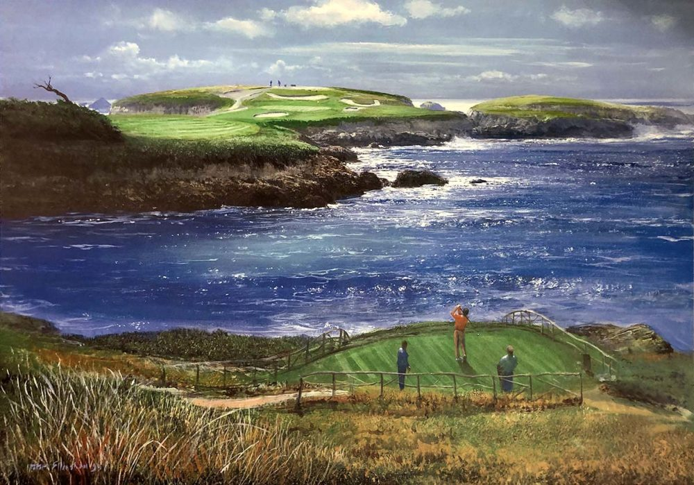 Cypress Point 16th Hole - Peter Ellenshaw