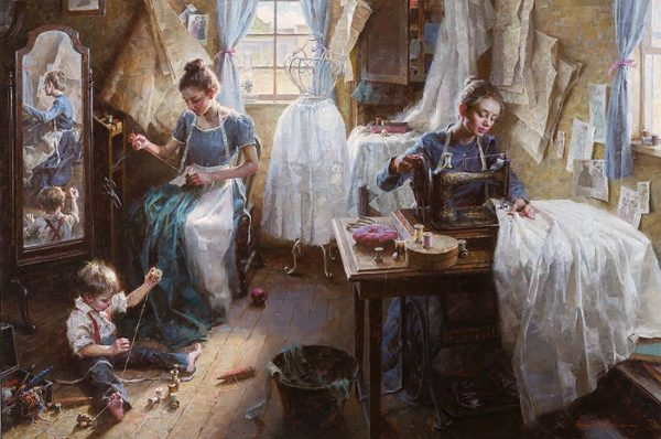 Dressmaker's Shop, 1886 Morgan Weistling