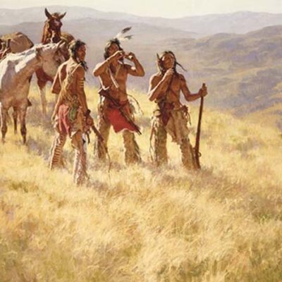 Dust of Many Pony Soldiers - Howard Terpning