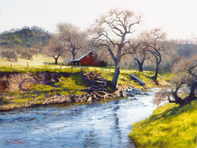 Early Spring At Stony Creek June Carey