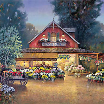 Evening At The Flower Market Paul Landry