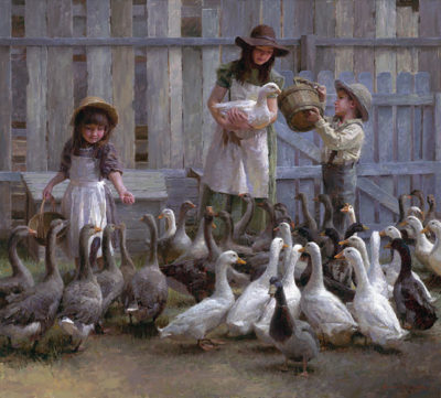 Feeding The Geese Morgan Weistling