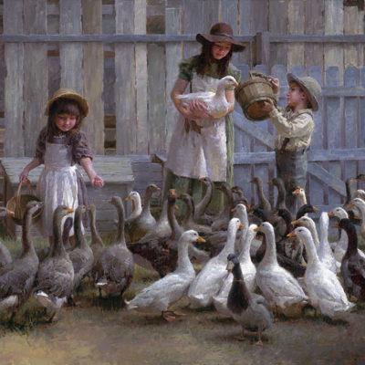 Feeding The Geese Morgan Weistling