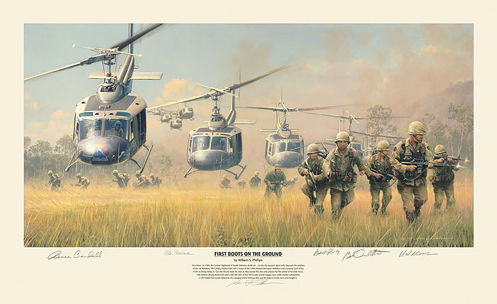 First Boots On The Ground Print William S. Phillips