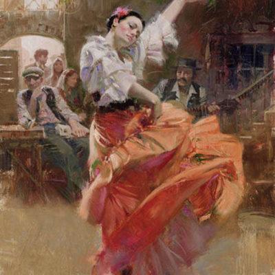Flamenco In Red Pino