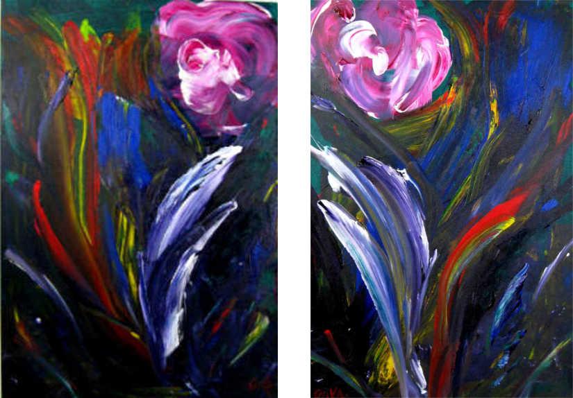 Floral Swirls (Diptych) BIKA