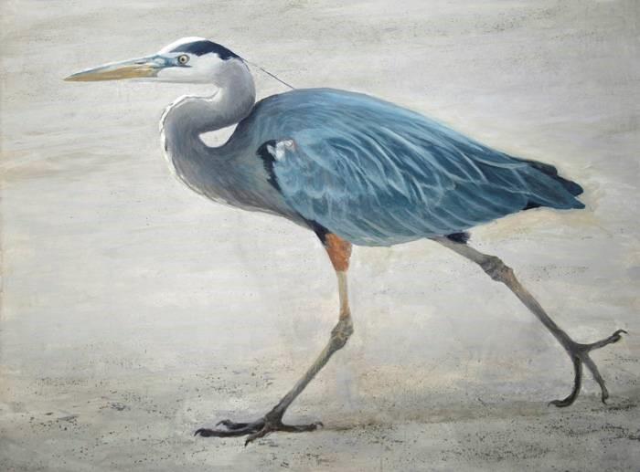 Full Stride - Great Blue Heron - Robert Bateman