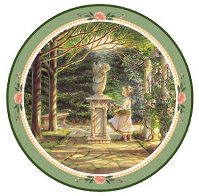 Garden Angel Collector Plate Trisha Romance 1