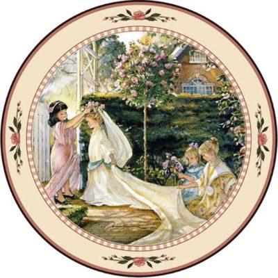 Garden Wedding - Collector Plate - Trisha Romance