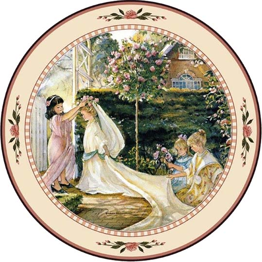 Garden Wedding - Collector Plate - Trisha Romance