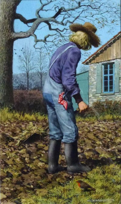 Gardener with Robin - Carl Brenders