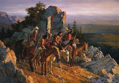 Gold Seekers to the Black Hills - Howard Terpning