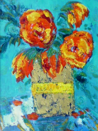 Gold Vase Marilyn Hurst