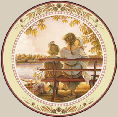 Golden Moments Collector Plate Trisha Romance