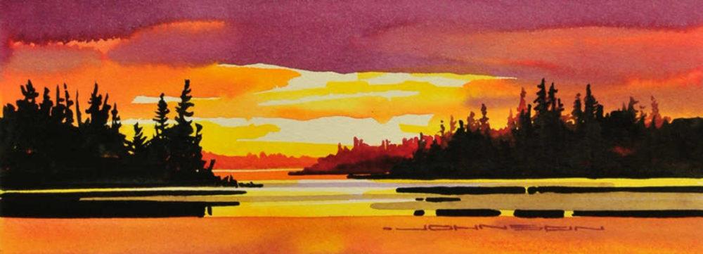 Golds And Reds Saturate Astotin Lake Elk Island Park Gregg Johnson