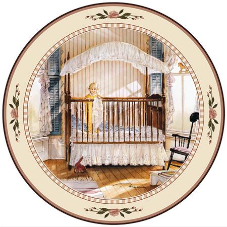 Good Morning Collector Plate Trisha Romance