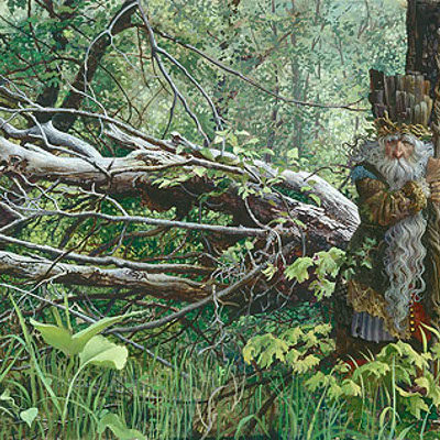Guardian In The Woods James Christensen