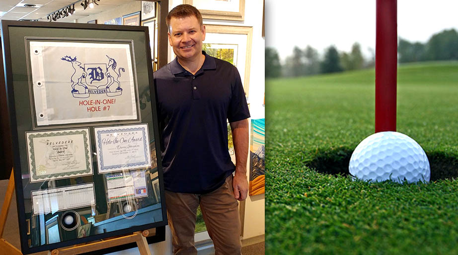 Hole in One - Twice - Framed Golfing Collage 1