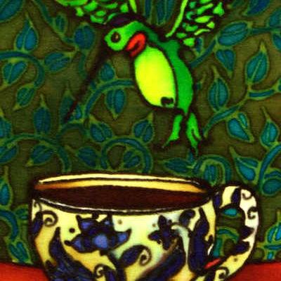 Hummingbird And Teacup Holly Carr