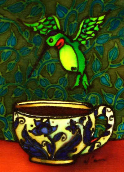 Hummingbird And Teacup Holly Carr