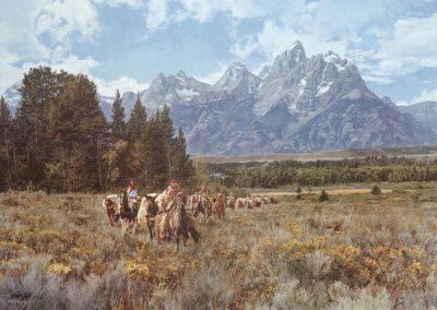 In the Valley of the Grand Tetons - Paul Calle