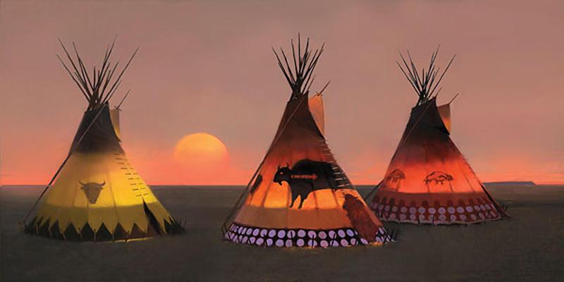 Indian Sunset II R. Tom Gilleon