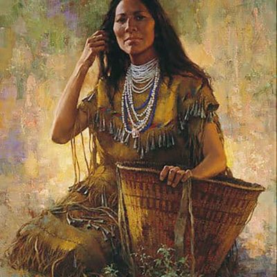 Isdzan - Apache Woman - Howard Terpning