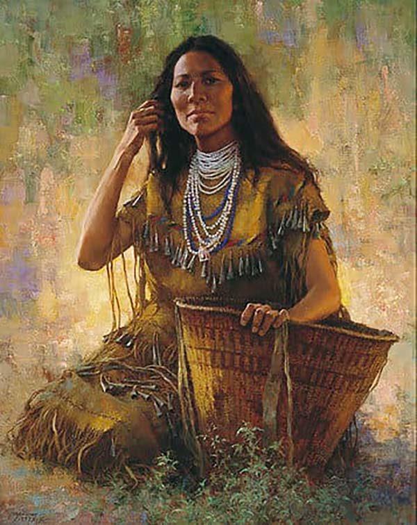 Isdzan - Apache Woman - Howard Terpning