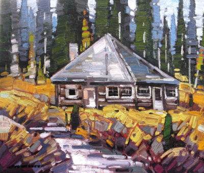Jim Simpsons Ram Pasture Cabin Bow Lake, AB Cameron Bird