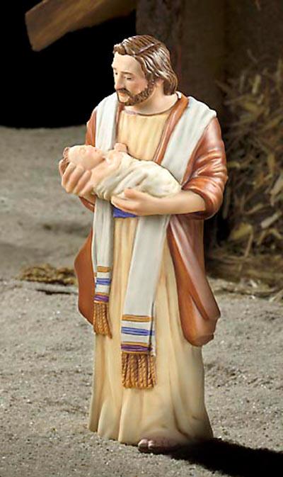 Joseph And Jesus Porcelain James Christensen