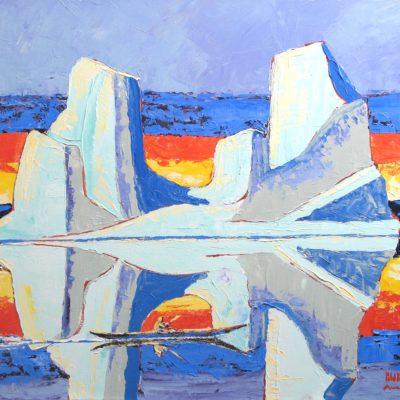 Kayak & Iceberg - Bern Will Brown