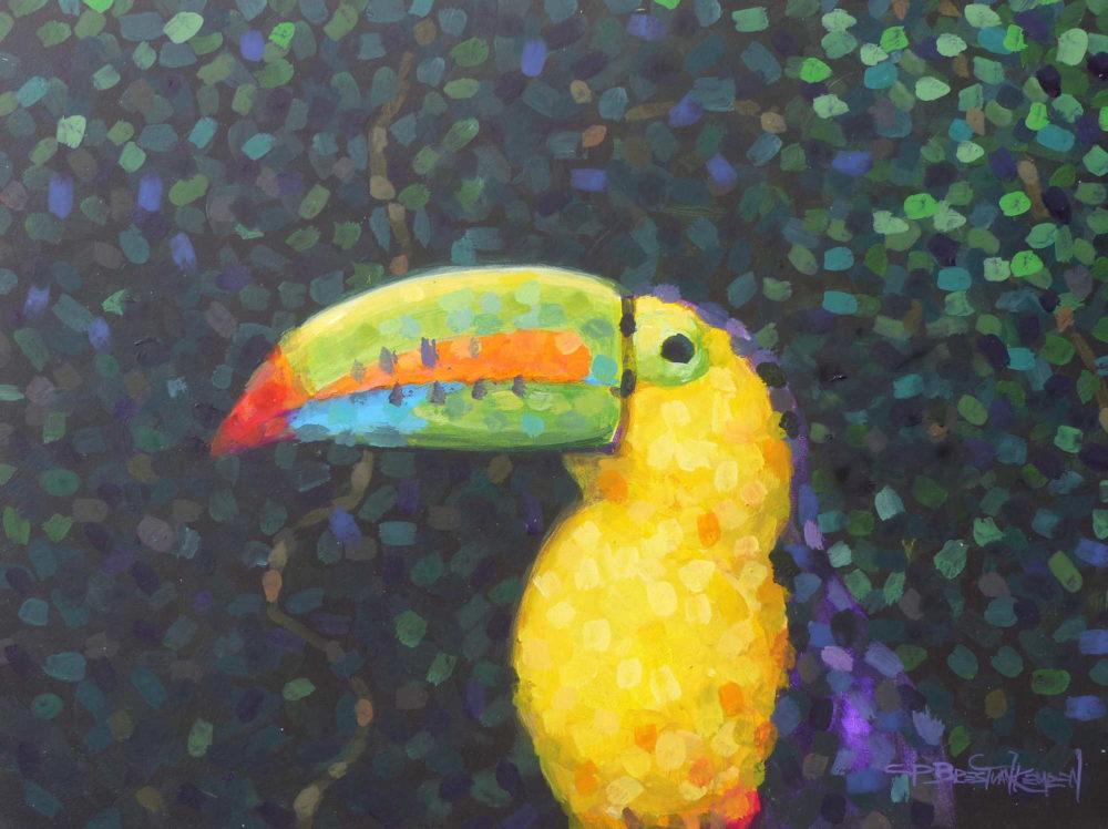 Keel Billed Toucan Acrylic Sketch Carel Brest Van Kempen