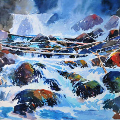 Lower Beckmann Falls Jasper AB Gregg Johnson