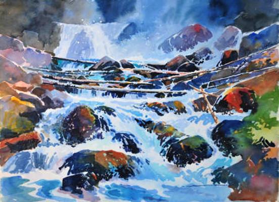 Lower Beckmann Falls Jasper AB Gregg Johnson