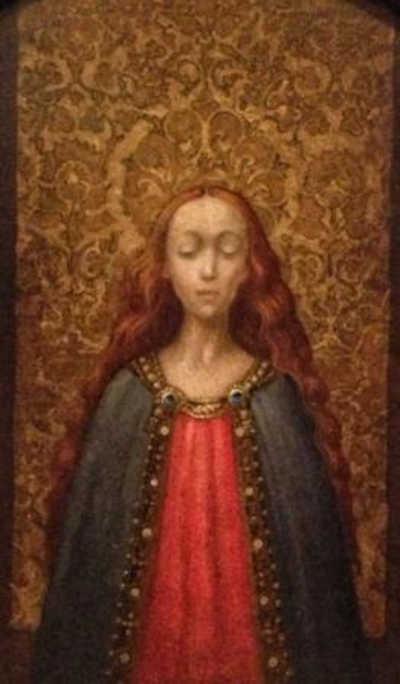 Madonna with Tapestry - James Christensen