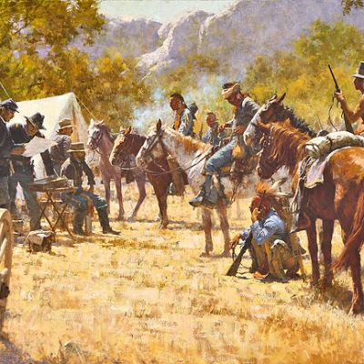 Major North And The Pawnee Battalion Howard Terpning