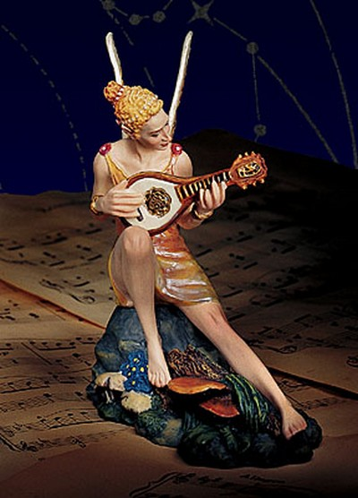 Melody The Faerie Muse Of Music Porcelain James Christensen