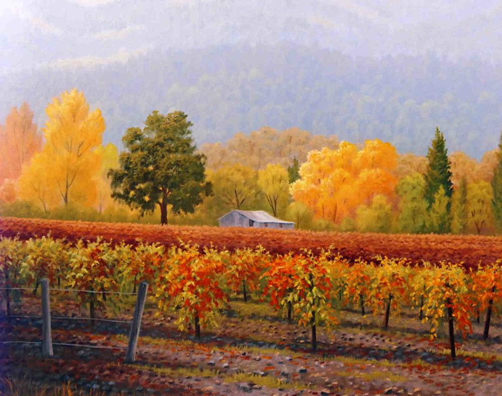 Misty Day Vineyard Charles White