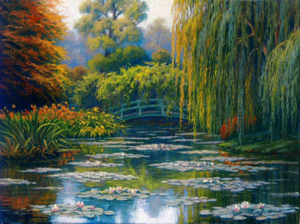 Monet's Bridge Charles White