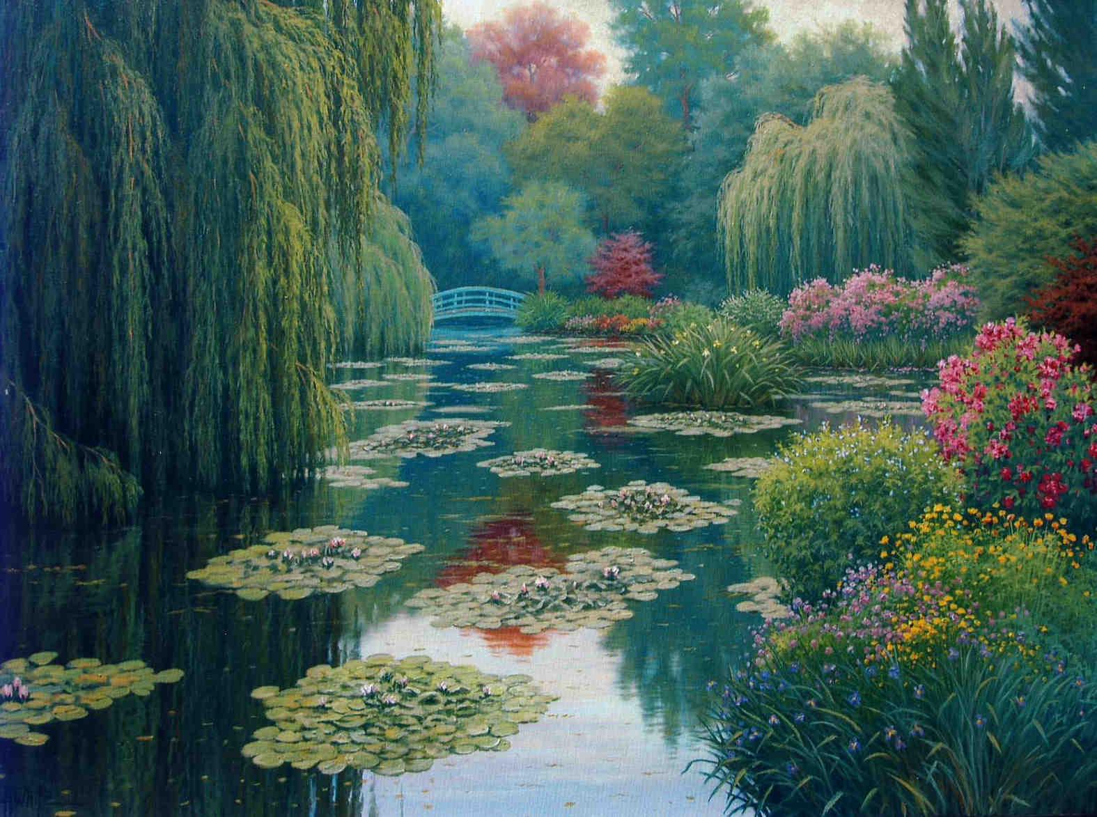 Monet's Garden Charles White