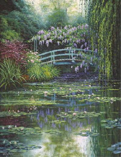 Monet's Japanese Bridge Charles White