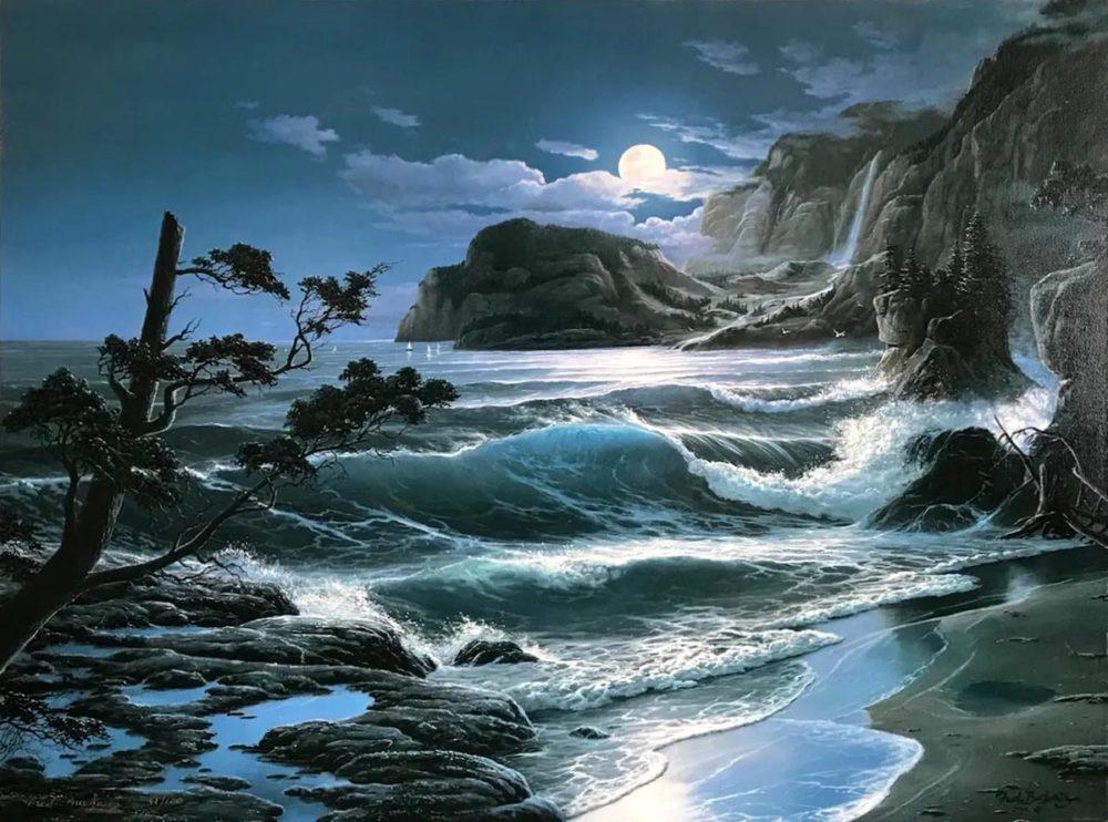 Moonlit Sea - Fred Buchwitz