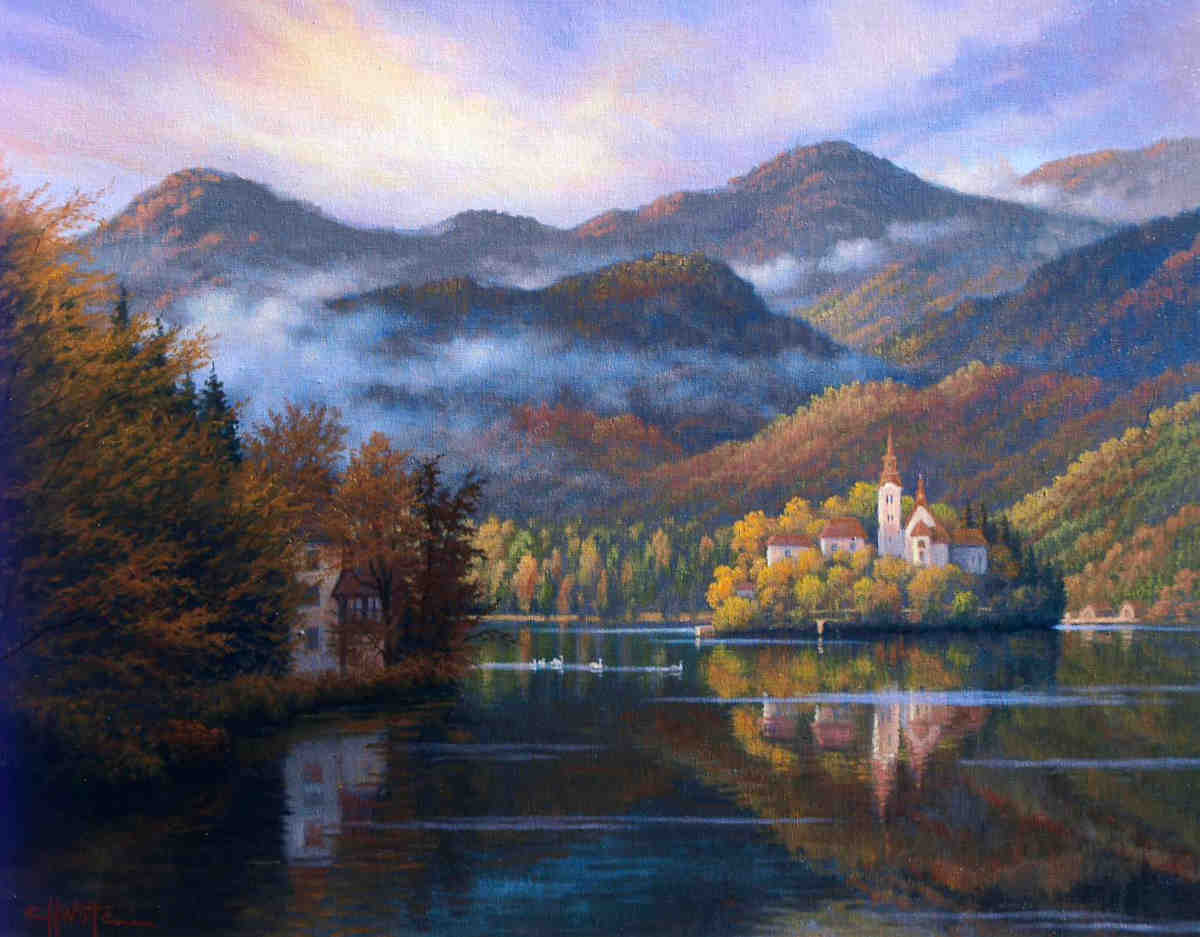 Morning On Lake Bled Charles White